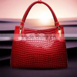 US and Euro new style woman/lady's leather single shoulder bag/leisure bag/casual bag/handbag/tote bag with snake skin
