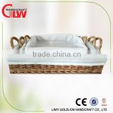 rectangular wicker basket tray with liner, cheap wicker bread baskets