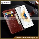 Genuine PU Leather Wallet case for iphone 6 , card holder leather flip case ,mobile phone case                                                                                         Most Popular