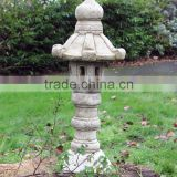 New Product Outdoor Japanese Garden Stone Finish Pagoda Lantern