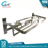 Bathroom accessories wall mounted commercial hotel metal grey stainless steel towel rack