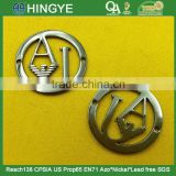 25mm Sew-on logo metal badges For Jeans clothes -- MZ6080