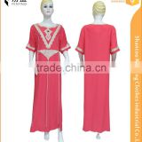 2016 latest fashion elegance short sleeves red maxi dress with fasion rope embroidery and beads