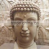 Cast stone carved buddha statue