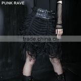 Q-169 Punk Rave Original design Black short Tutu Bubble Skirt gothic dress