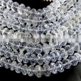 1 Natural Crystal Quartz Faceted Rondelle Beads,Faceted Jewelry Making Beads,Clear Quartz Beads,10-13mm Beads,Finding Bead
