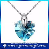 2016 Arrival Fashionable Fashion Simple Cheap Artificial clear simple crystal heart of the ocean necklace N0178