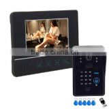 "2015 7"" color screen wired ID card unlock video door phone with remote door release PY-811MJIDS11"