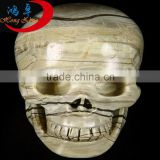 Natural handmade rock crystal Butter Jade crystal skull for sales