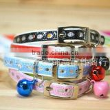 Small Silver Pieces Collar for Cat and Little Dog, Fashion Pet Collar with Bell 1/3