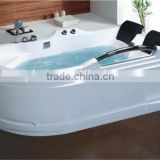 High quality luxury Massage Bathtub for home use/2 person sexy massage bathtub with wirlpool
