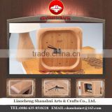 Shanshui DRZ001 Manufacturer's modern desktop clock wholesale table with wood material