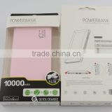 Best selling Mobile phone accessories 10000mah slim new portable mobile charger making machine