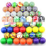 China wholesale quality products toys for kids bulk buy from china mixed solid colors clear 27mm high bouncy rubber ball