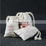 Logo printed cotton jewelry pouch canvas gift bags IN HIGH QUALITY                                                                         Quality Choice