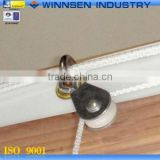 Good Sale Galvanized Nylon Cable Pulley Wheel with Swivel Eye for Frame and Curtain YS50020