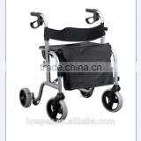 "lightweight aluminium 8"" EVA wheels deluxe rollator with removable shopping bag fashion"