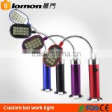 Hot Selling 12 SMD Led Portable Flexible Work Light Led Magnetic Torch Light with Magnet Stand