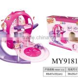 Cartoon kids parking lots toy crazy railway car toys lovely track cute car set for children