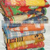 vintage handmade reversible kantha throws