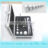 lab test kit 1mg-1kg test weights for calibration, stainless steel calibration weights set
