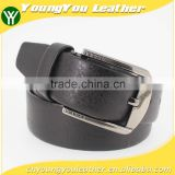 Hot sale reversible PU jeans men belt with high quality Black leather in Yiwu