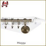 F625352 metal iron aluminium stainless steel brass telescopic aluminum adjustable crystal curtain finial