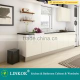 MDF carcass and modern style modular white kitchen cabinets for apartment