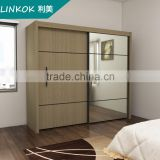 Wholesale european style bedroom wardrobe sliding door fittings waterproof system designs
