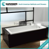 cUPC certified removable apron bathtub, anti-slip drop-in acrylic bathtub, square built-in bath