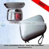 Silver waterproof PU case for digital camera and accessories