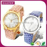 Wholesale Fashion Jewelry Leather Custom Watch Manufacturer