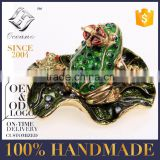 Best selling enamel sea turtle with crown pewter jewelry box