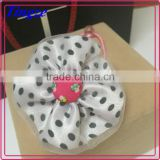 Wholesale kids dots elastic hair band girls unique flower baby hair accessories headbands TD32