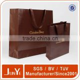 gold foil stamp luxury paper gift bag with twist handle                                                                                                         Supplier's Choice