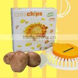 DIY Microwave Oven Baked Potato Chips Homemade Maker Machine Device with Slicer & Plate