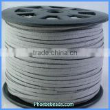 Wholesale Suede Cords Flat Faux Grey Color For Jewelry Making SC-1126