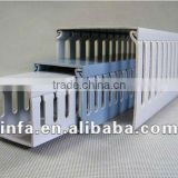 slotted cable trunking /plastic pvc cbale duct