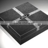 Hot sale faux leather Gift box with Ford logo, outer logo and inner layout could be customized