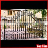 Sliding Decorative Galvanized Wrought Driveway Gates