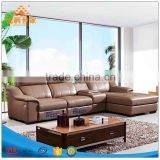 Dermal sofa Head layer cowhide combination of contemporary sitting room corner paper art sofa in the small family thick leather