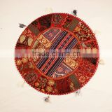Yoga cushions Indian Round Decorative Traditional Rajasthani Cushions Patchwork Round Pillows