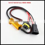 h4 h7 h8 h9 h11 9005 9006 error canceller led load resistor 50w harness cable for bmw vw