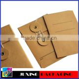 Fashion Kraft Envelope with button and string closure