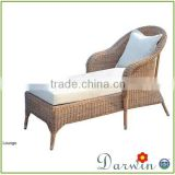 Modern Design Rattan Wicker bamboo looking plastic deck chair indoor outdoor furniture