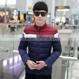 Wholesale new winter men's jacket 2015 autumn and winter warm down jacket slim casual cotton thickened