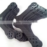 Custom high quality precision cnc milled real carbon fiber panel / board / plank / quadcopter frame