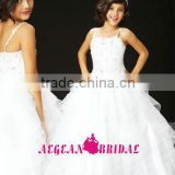 StyleMW0154 New Arrival Organza Crystal Ball Gown Cheap Little Queen Flower Girl Dress for Sale