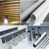 aluminium extrusion pipes anodized aluminium hollow section aluminium decorated tube