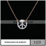 Popular style Gold & Rhodium Original cheap fashion Necklace
